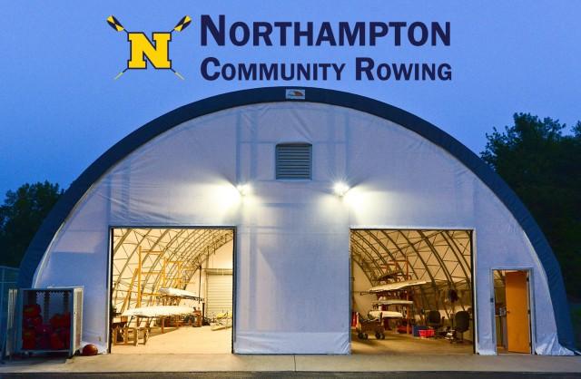 NCR boathouse with logo